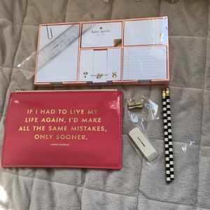 Kate Spade Same Mistakes & Gold Sticky Notes