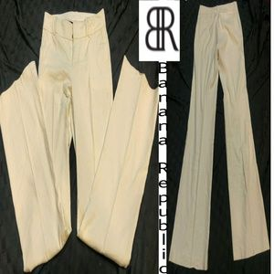 Banana Republic off white Martin Fit 6 Long pants