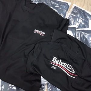 27f1fba88 balenciaga Shirts - Balenciaga T-Shirt 2017 Campaign Logo Oversized
