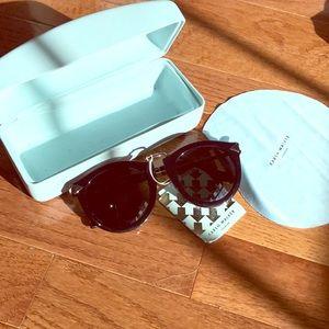 NWT Karen walker black sunglasses