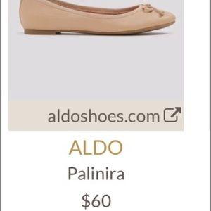 5b282bfff89e Aldo Shoes - ALDO Palinira Nude Leather Ballet Flats