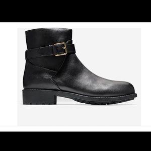 Cole Haan Black Slattery Leather Waterproof Boots