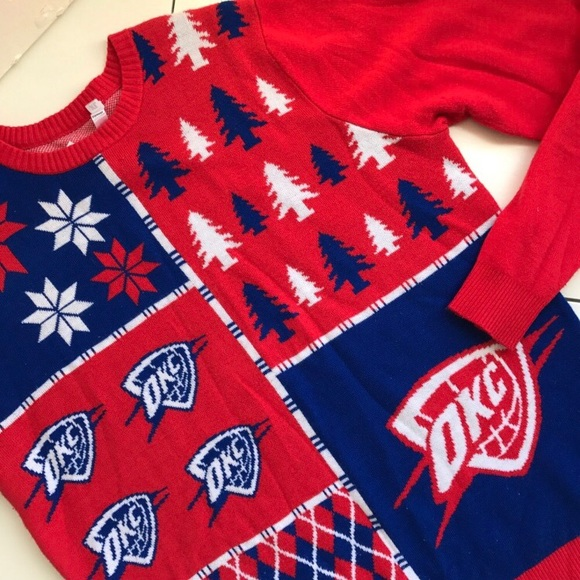 premium selection 203a4 09c90 Oklahoma City Thunder Holiday Sweater
