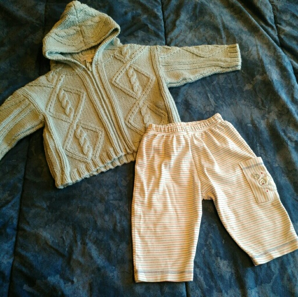 1927301bc371 Kissy Kissy Boys Zip Up Cadigan Sweater Pants