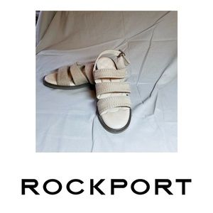 Rockport 9.5 M Comfort Sandals Beige Suede Leather