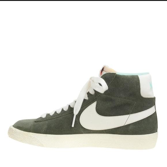 bca0bea0b3874 Nike women's suede blazer mid vintage high tops