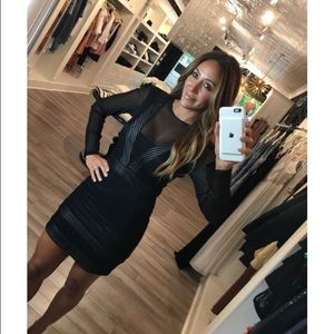 In search of plunge mini dress
