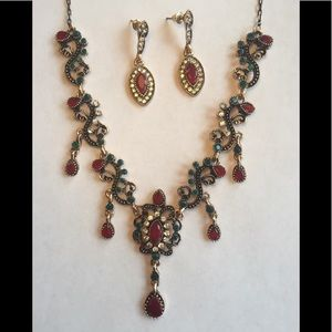 Jewelry - 🌟NEW🌟Turkish Vintage-Style Necklace & Earrings