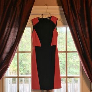 Halogen Red and Black Formal Dress