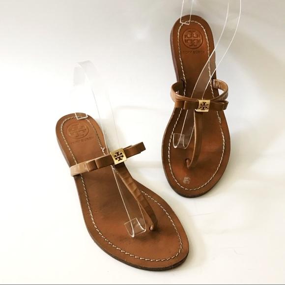 0a8cdc233e5 Tory Burch Leighanne Bow Thong Sandal Flip Flop. M 5a1ef3fcd14d7b7bc7167352