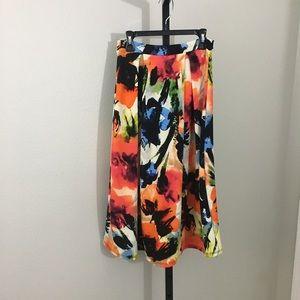 Maude long Floral skirt