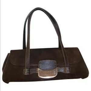 Authentic Tod's suede leather handbag purse