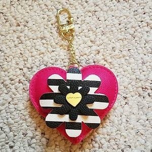 Betsey Johnson pink heart key chain