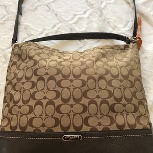 REDUCED Authentic Signature Coach Brown Sig. Purse