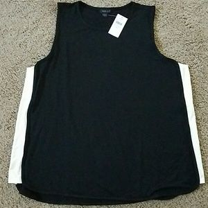 Black tank with cream panels by jjill