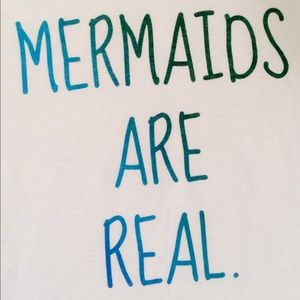 Mermaids Are Real Fitted Tee