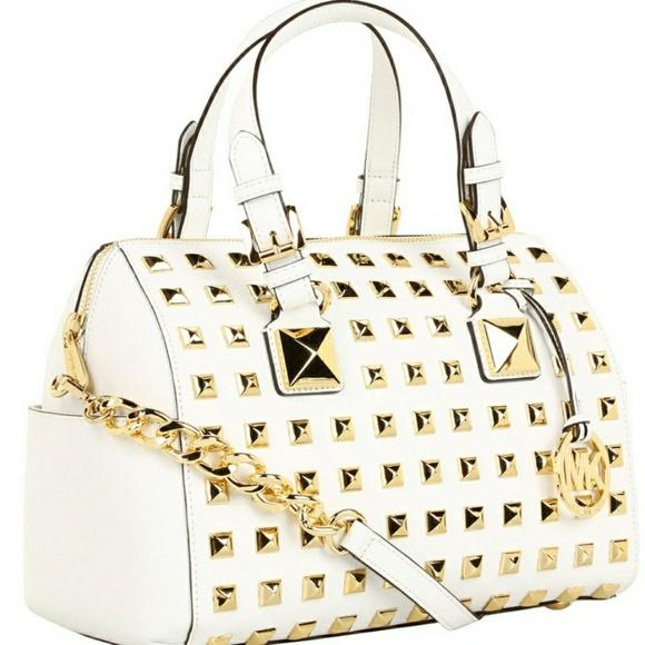 881ddd8e542e1e Michael Kors Bags   Mk Studded White Gold Grayson Purse   Poshmark
