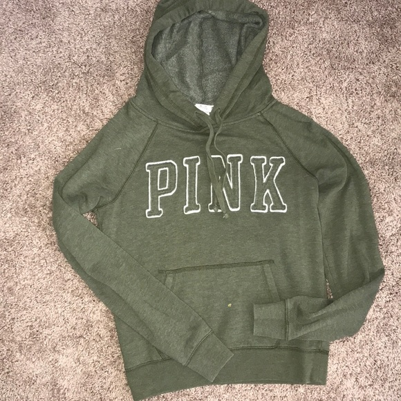 b346fdd228210 Olive Green PINK hoodie