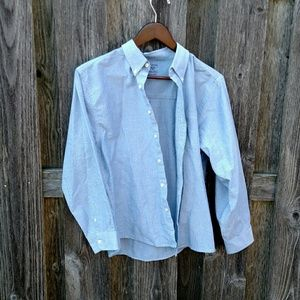 Women's Light Blue Button Down Top