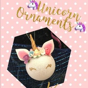 Other - 5 pcs Unicorn Christmas Ornaments Handmade