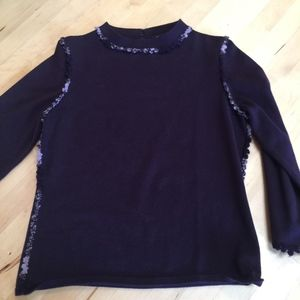 Etcetera Plum/Purple with Chanel-like trim Sweater