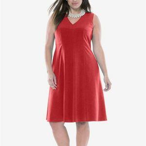 New Jessica London Red Aline Dress 26