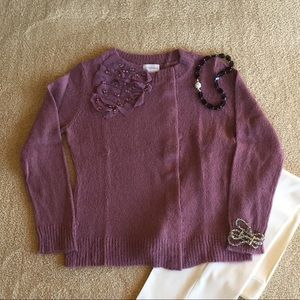 Soft Surroundings Pink Embellished Sweater