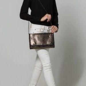 NWT Snakeskin (Vegan) clutch purse.