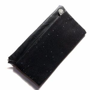 BCBGeneration black folded evening purse handbag