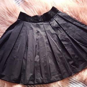 BB Dakota Taffeta Skirt with Velvet Waist (NWT)