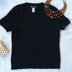 Dreamy Black Cashmere Sweater, Sz M