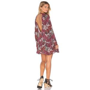 BEACH RIOT Lily mini dress in maroon floral - NWT!