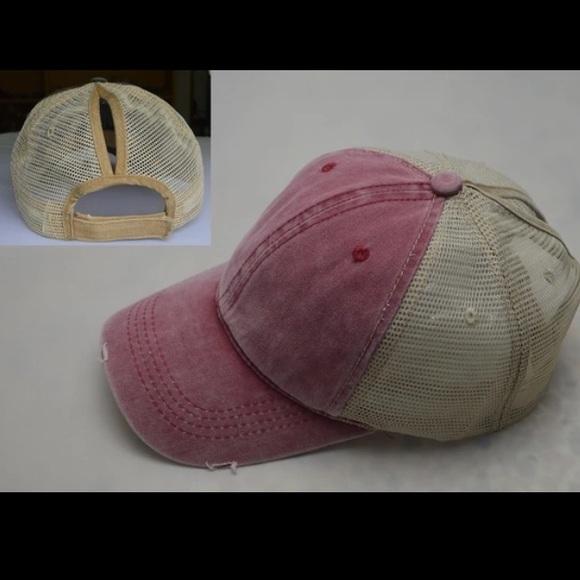f84242beaab 2018 GLAMOUR PONYTAIL MESSY BUN TRUCKERS CAP HAT