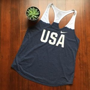 Details about Women's Nike Team USA Olympic Racer back Tank Top (Small)