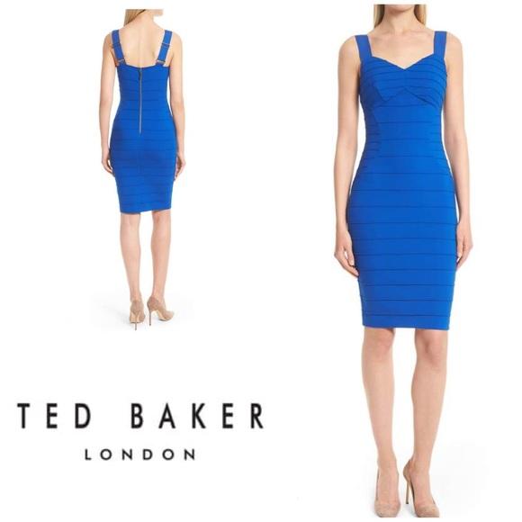 8a5f17c0b New Ted Baker Charlli Blue BodyCon Dress