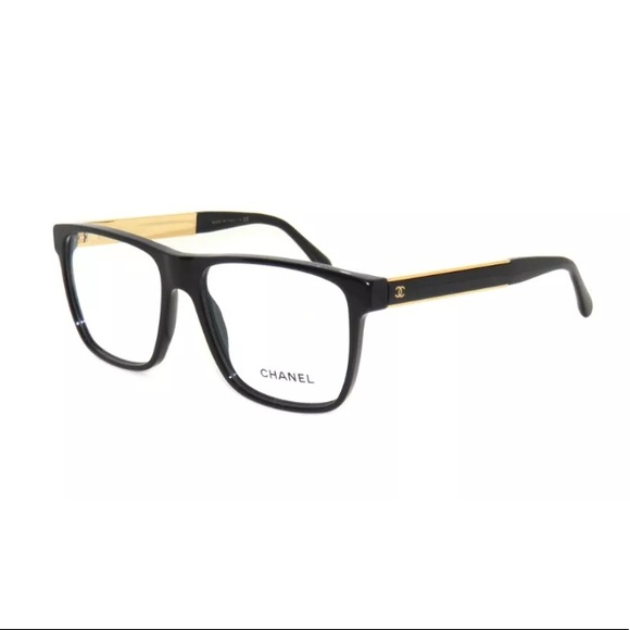 feb9ea86b7 Chanel 3276 Eyeglasses Black And Gold Frame 55mm