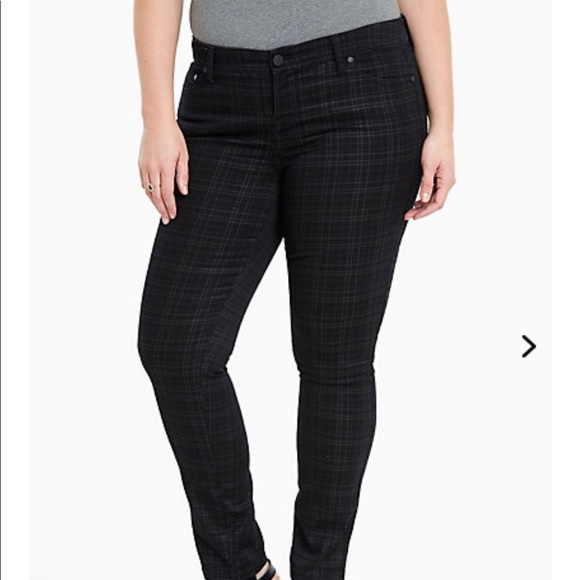 232b413e180 Luxe Skinny Plaid Pants