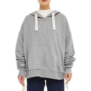 NWT Topshop Boutique Tie Sleeve Oversized Hoodie