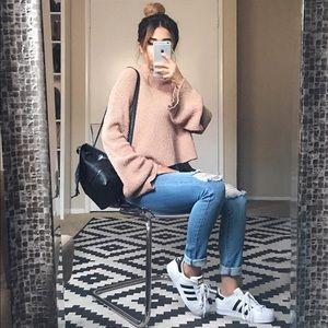 Blush Knit Cropped Sweater