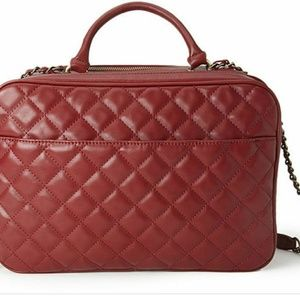 Faux Leather large quilted purse