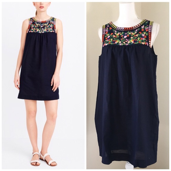eb9c9891e84eb3 J. Crew Factory Dresses   Skirts - J Crew Factory Embroidered Dress NWOT