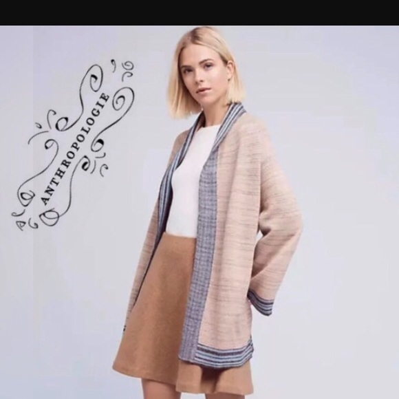 64a51aca975 Anthropologie Sweaters - Anthropologie crane kimono sweater metallic M