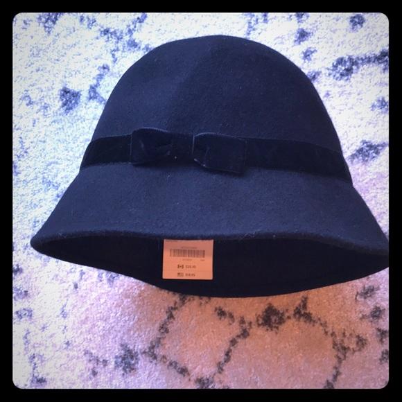 GYMBOREE BLACK BERET WOOL GIRLS MEDIUM DRESSY HAT