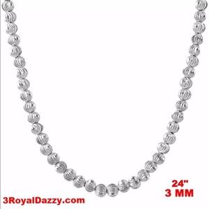 """Jewelry - 18k w gold layered over 925 sterling  chain 24"""""""