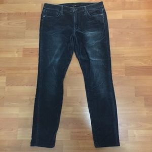 Joe's Jeans dark blue velvet short jeggings