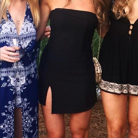 fa59a8e5499a Bec & Bridge Dresses & Skirts - Bec & Bridge Jungle Hunt Black Strapless  Dress