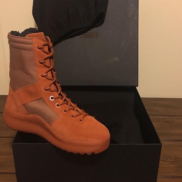 2c6f407dd5718 Yeezy Season 3 Burnt Sienna Boots. M 5a1f27478f0fc450de17553e