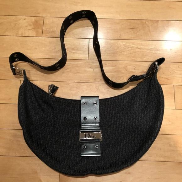 a5b1c88f99cc1 Christian Dior Bags   Black Canvas Messenger Bag   Poshmark