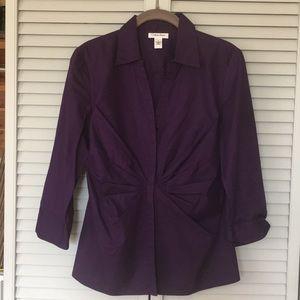 Calvin Klein Royal Purple Dress Shirt Sharp Medium
