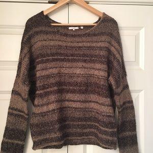 Brown striped wool sweater